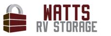 Logo watts rv storage logo