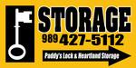 Logo paddy s lock   storage sign